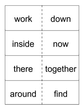 Reading Street- Grade 1- Unit 2 High Frequency Word Cards