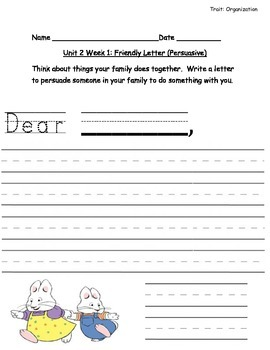 Reading Street Grade 1 Unit 2 Writing Prompts