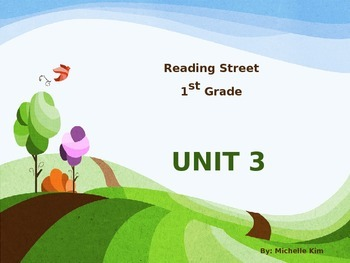 Reading Street Grade 1 Unit 3 (Amazing Words / Slection Words / Quizes)