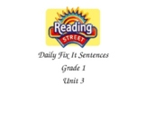 Reading Street Grade 1 Unit 3 Fix it Sentences