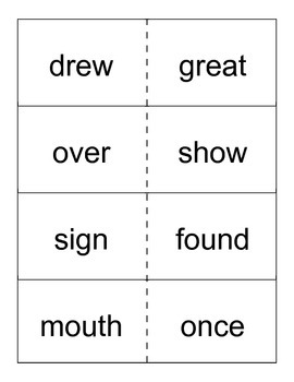 Reading Street- Grade 1- Unit 4 High Frequency Word Cards