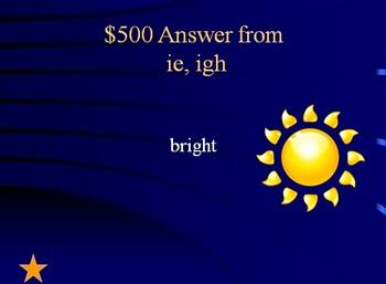 Reading Street Grade 1 Unit 4 Phonics Review Jeopardy (part 2)