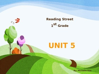 Reading Street Grade 1 Unit 5 (Amazing Words / Slection Words / Quizes)