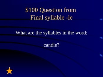 Reading Street Grade 1 Unit 5 Jeopardy-Style Review Game (Part 2)
