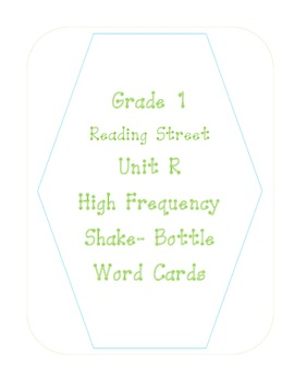 Reading Street- Grade 1- Unit R- Shake a Word