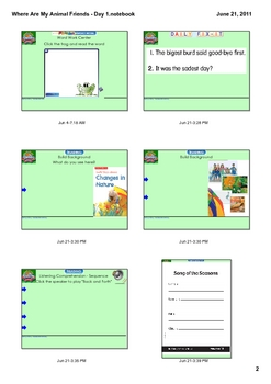 Reading Street Grade 1 Where Are My Animal Friends? - Day 1