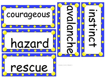 Grade 2 Amazing Words Units 1-6 for Reading Street (2008)
