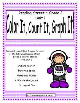 Reading Street Second Grade Unit 1 Literacy Fun:Color It, Count It, Graph It!