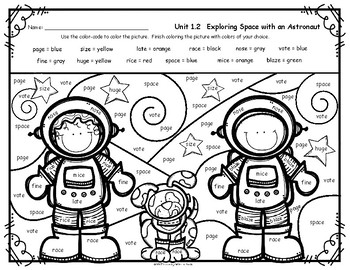 reading street grade 2 free color by word exploring space tpt. Black Bedroom Furniture Sets. Home Design Ideas