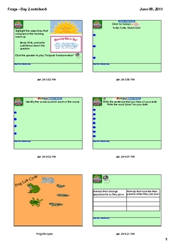 Reading Street Grade 2 Frogs - Day 2