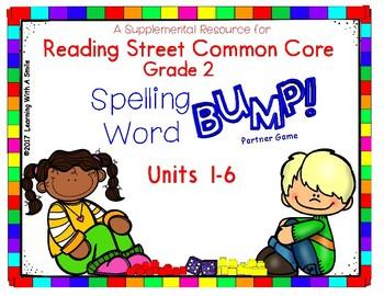 Reading Street Grade 2 - SPELLING WORD BUMP! Partner Game - Center Time Fun!