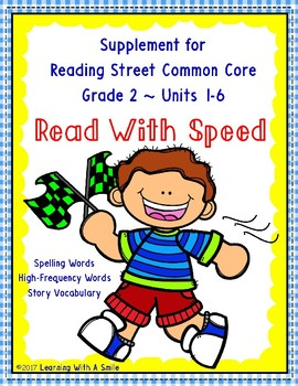 Reading Street Grade 2 Supplement ~ Read With Speed ~ Fluency Practice
