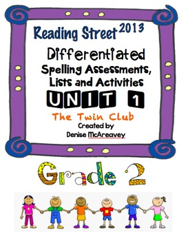 Reading Street Grade 2 UNIT 1 The Twin Club Differentiated Spelling
