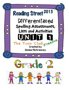 Reading Street Grade 2 UNIT 1 The Twin Club Spelling SAMPLE