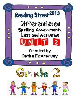 Reading Street Grade 2 UNIT 2 Differentiated Spelling BUNDLE