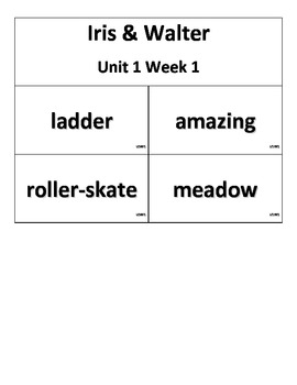 Reading Street, Grade 2, Unit 1 Selection Vocabulary Cards with Definitions