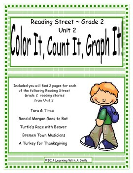 Reading Street Grade 2 (Unit 2) No Prep Literacy Center ~ Color, Count, Graph It