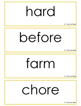 Reading Street Grade 2 Unit 2 Spelling Word Cards