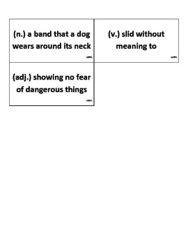 Reading Street, Grade 2, Unit 2 Weekly Vocab Cards w/ Matching Definition Cards