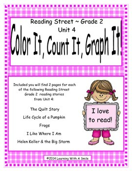Reading Street Grade 2 (Unit 4) No Prep Literacy Center ~ Color, Count, Graph It