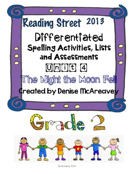 Reading Street Grade 2 Unit 4 The Night the Moon Fell Differentiated Spelling