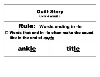 Reading Street, Grade 2, Unit 4 Weekly Spelling Launch: Whole Class Sort