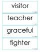 Reading Street Grade 2 Unit 5 Spelling Word Cards