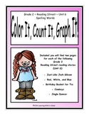 Reading Street Grade 2 (Unit 6) No Prep Literacy ~ Color It, Count It, Graph It!