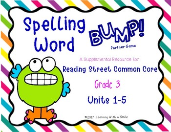 Reading Street Grade 3 - SPELLING WORD BUMP! Partner Game - Center Time Fun!