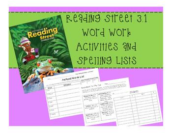Reading Street Grade 3 Unit 1 3.1 Spelling / Phonics Word