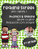 Reading Street, Grade 3, Unit 1 Week 1, When Charlie McBut