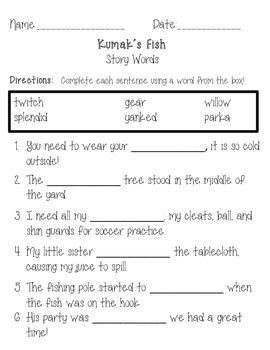 Reading Street, Grade 3, Unit 1, Week 3, Kumak's Fish