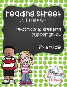 Reading Street, Grade 3, Unit 1 Week 4, Supermarket Phonics Pack