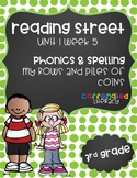 My Rows and Piles of Coins Phonics Pack; Reading Street, Grade 3, Unit 1 Week 5