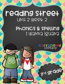 Reading Street, Grade 3, Unit 2 Week 2, I Wanna Iguana Phonics Pack