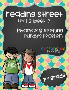 Reading Street, Grade 3, Unit 2 Week 3, Prudy's Problem Phonics Pack