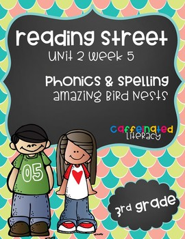 Reading Street, Grade 3, Unit 2 Week 5, Amazing Bird Nests Phonics Pack