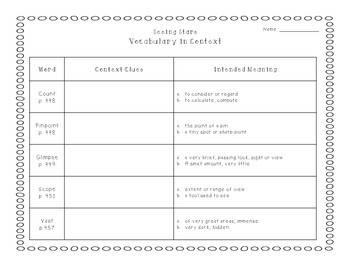 Reading Street Grade 3 Unit 3 Vocabulary in Context