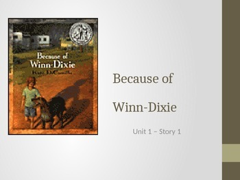 Reading Street Grade 4 Because of Winn Dixie Spelling PowerPoint