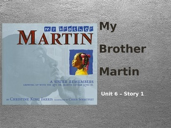 Reading Street Grade 4 My Brother Martin Spelling PowerPoint