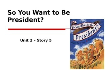 Reading Street Grade 4 So You Want to Be President? Spelling PowerPoint