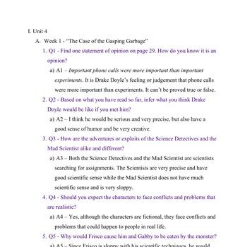 Reading Street - Grade 4: Unit 4 Trifolds (5)