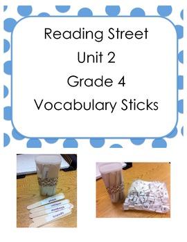 Reading Street Grade 4 Vocabulary Sticks