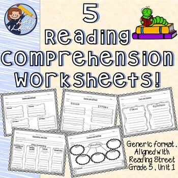 Reading Comprehension Worksheets (Reading Street - Gr. 5, Unit 1)