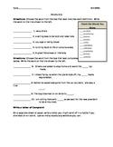 Reading Street Grade 5 Unit 1 Week 1 Amazing Words Practice