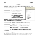 Reading Street Grade 5 Unit 1 Week 2 Amazing Words Practice Sheet
