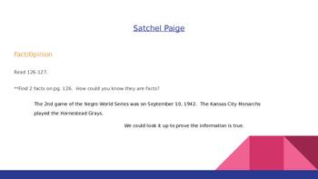 Reading Street Grade 5 Unit 1 Week 4 Day 3 Satchel Paige Power Point