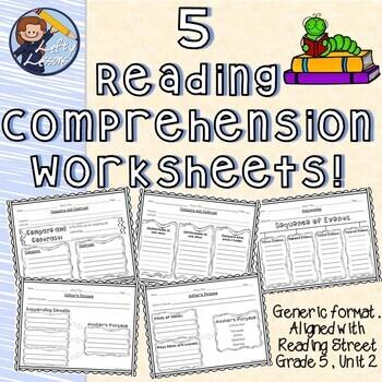 Reading Comprehension Worksheets Reading Street Gr 5 Unit 2