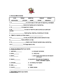 Reading Street, Grade 5, Unit 5, Week 6, Review Week Packet