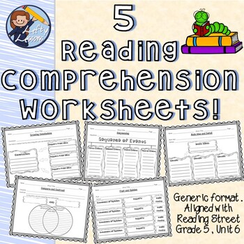 Reading Comprehension Worksheets (Reading Street - Gr. 5, Unit 6)